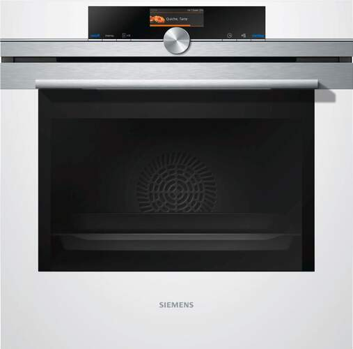 Horno Pirolítico Siemens HB676G0W1 - A+, PerfectCooking 4D, TFT Touch, CookControl Plus, Blancco