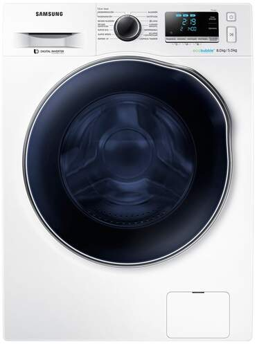 Lavadora Secadora Samsung WD80J6A10AW - A, 8+5kg, Inverter, EcoBubble, Air Wash, SpeedSpray, Blanca