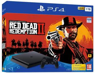 CONSOLA SONY PS4 1TB   RED DEAD REDEMPTION II