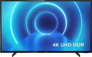 "TV Philips 43"" 43PUS7505/12 - UHD 4K, Smart TV Saphi, P5 Proces., HDR10+, Dolby Vision/Atmos"