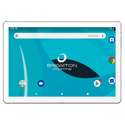 "Tablet Brigmton BTPC-1025 Blanca - 10"", OctaCore 1.6Ghz, 3/32GB, 5000mAh, Android 9, WiFi"