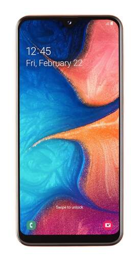 "Samsung Galaxy A20e 32GB Coral - 5.8"" Infinity-V HD, 1.6GHz, 13 MP (F1.9)+ 5 MP/8 MP, RAM 3GB"