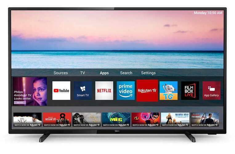 "TV Philips 58"" 58PUS6504/12 - UHD 4K, Smart TV Saphi, HDR10+, Dolby Vision/Atmos, MicroDimming"