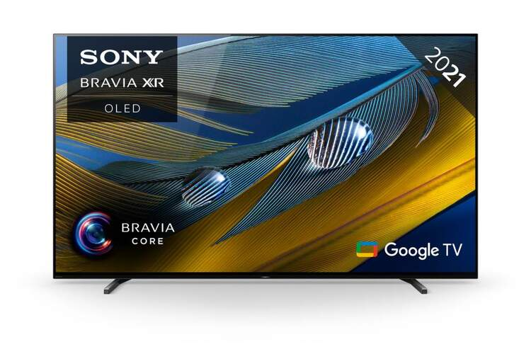 TV OLED Sony XR-77A80J Bravia - UHD 4K, Android TV, Dolby Vision/Atmos, Acoustic Surface 50W