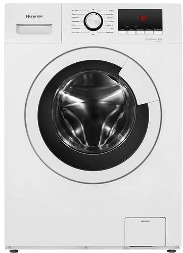 Lavadora Hisense WFHV7012 - A+++, 7kg, 1200rpm, 15 Programas, 360º Smart Wash, Display, Blanca