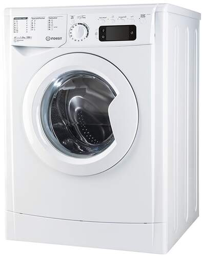 Lavadora Indesit EWE81252WEU - A++ , 8kg, 1200rpm, 16 Programas, Energy Saver, Display, Blanca