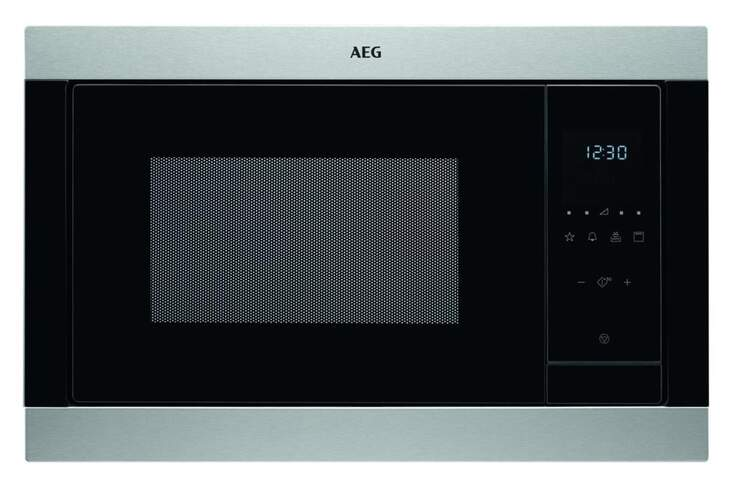 Microondas integrable AEG MSB2547DM - 25 Litros, 900W + Grill 1000W, 8 Potencias, Display Táctil
