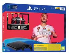 Play Station PS4 1TB FIFA 20 -  Ultimate Team + PS Plus 14 Días, HDR,