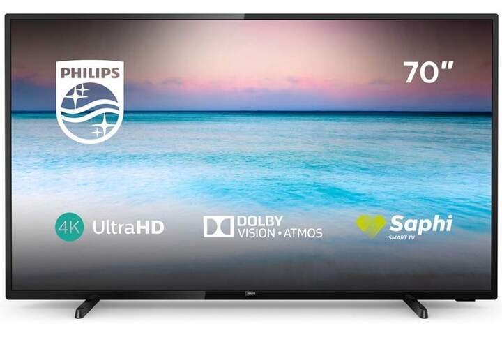 """TV Philips 70"""" 70PUS6504/12 - UHD 4K, Smart TV, Dolby Vision/Atmos, HDR10+ HLG, Dolby Vision/Atmos"""