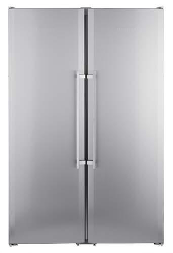 Side By Side Liebherr SBSesf7212 - A+, 185x121cm, 640L,  NoFrost, SuperFrost, FrostSafe, LED, Inox