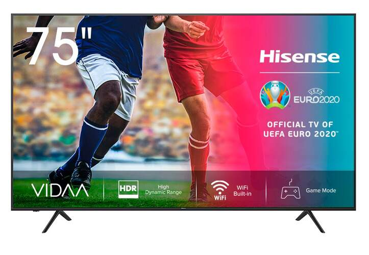 TV 4K Hisense 75A7100F - UHD, Smart TV, HDR10+, Ultra Dimming, Dolby Vision, DTS, Dolby Audio