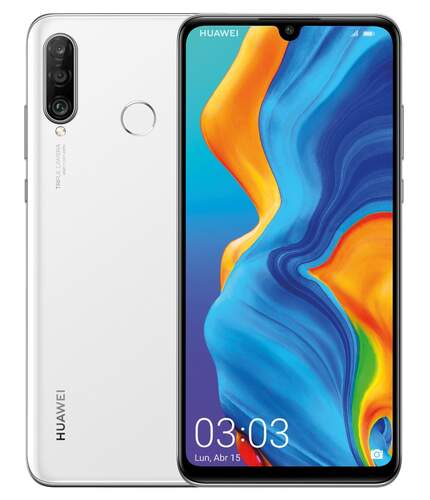 """Huawei P30 Lite 128GB Blanco - 6.15"""", RAM 4GB, OctaCore 2.2 GHz, Triple Cam 48+8+2 Mpx, Android 9"""