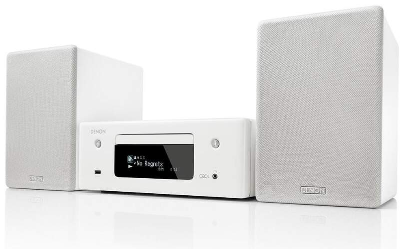 Cadena Denon CEOL N10 Blanca - 130W, BT, WiFi, CD, AirPlay2, Multiroom, Radio FM