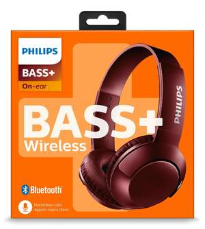 AURICULARES PHILIPS SHB3075RD/00 ROJO BASS