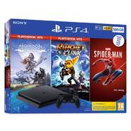 Videoconsola Sony Play Station 4 PS4 Slim - 500GB + Horizon Zero + Rachet Clanck - Spiderman
