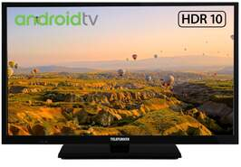 "TV Telefunken 24"" 24DTAH524 - HD, Android TV, HDR10, HLG, Bluetooth, WiFi, DTS+ Dolby Digital"