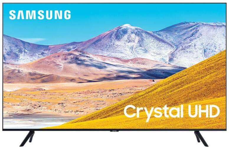 "TV Samsung 55"" 55TU8005 - Crystal UHD 4K, Smart TV Tizen, HDR10+, 2100PQI, UHD Dimming"