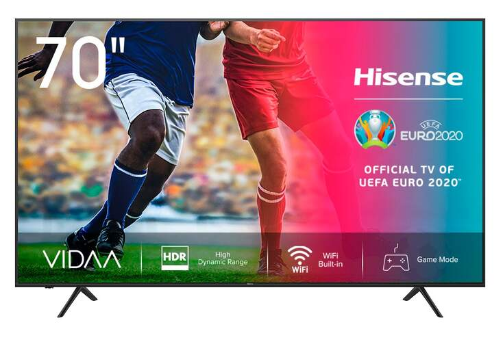 TV 4K Hisense 70A7100F - UHD, Smart TV, HDR10+, Ultra Dimming, Dolby Vision, DTS, Dolby Audio