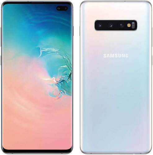 "Samsung Galaxy S10+ 128GB Blanco - 6.4"" WQHD+ AMOLED, Cámara triple 12/16/12 mpx, RAM 8GB, 4100 mAh"