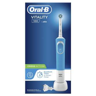 DENTAL ORAL-B D100 VITALITY CROSS ACTION AZUL