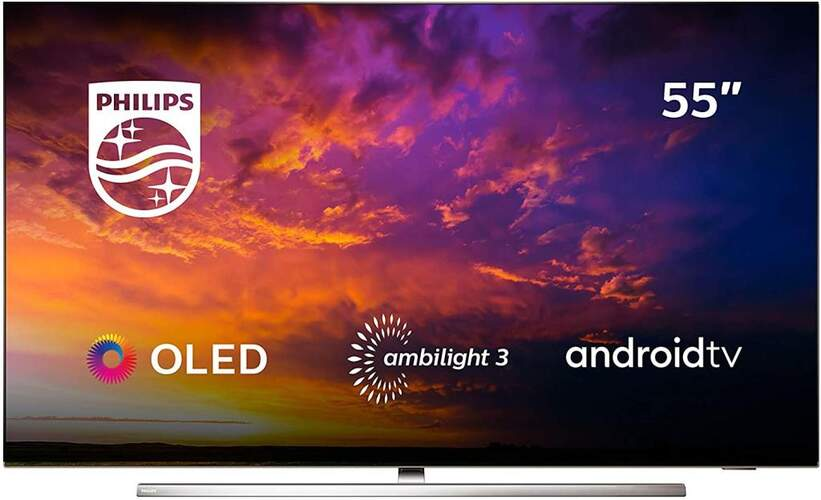 """TV Philips 55"""" 55OLED854/12 - UHD 4K, Android TV, Ambilight, P5 Pro, HDR10+, Dolby Vision/Atmos"""