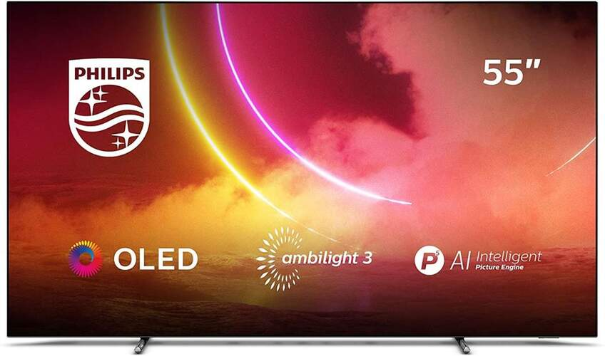 TV Philips 55OLED805/12 - UHD 4K, P5 AI, Android TV, 99% DCI P3, Ambilight, HDR Dolby Vision/Atmos