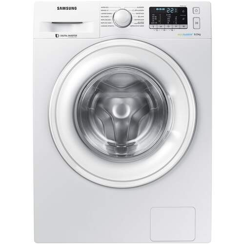 Lavadora Samsung WW80J5455DW - 8Kg, A+++ -40%, 1400rpm, Motor Inverter, Ecobubble, Smart Check