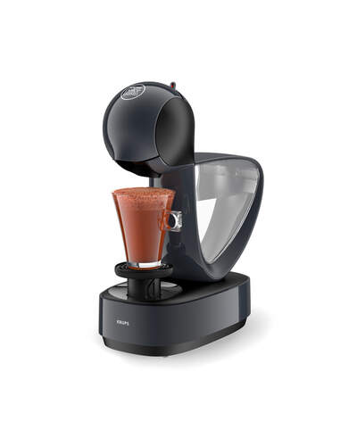 Cafetera Krups Infinissima Gris - Dolce Gusto, 15 Bares, ThermoBlock 1500W, 1.2L, Manual