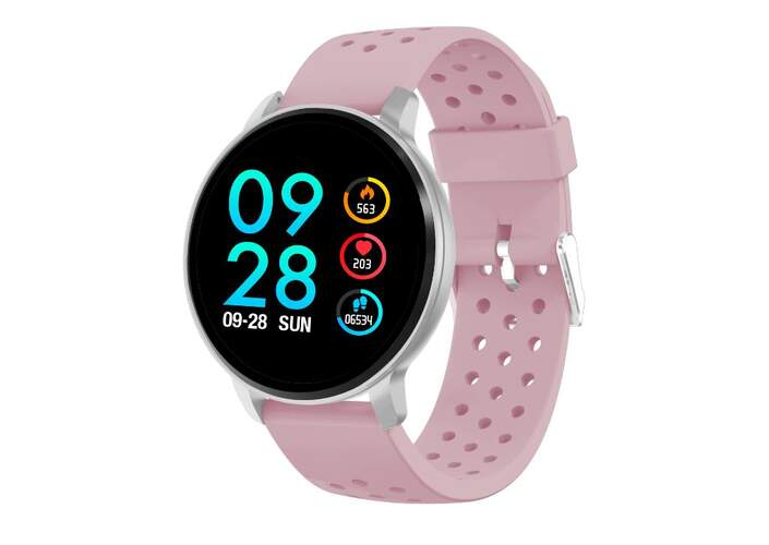 "SmartWatch Denver SW-170 Rosa - IPS 1.3"", Sensor Frec. Cardiaca, Bluetooth, Multi Sport, IP67"